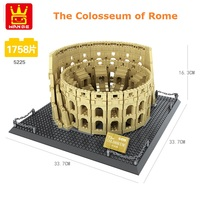 Wange Blocks Architecture the Colosseum Model Building Bricks Juguetes Kids History Educational Toys for Children Gifts 5225