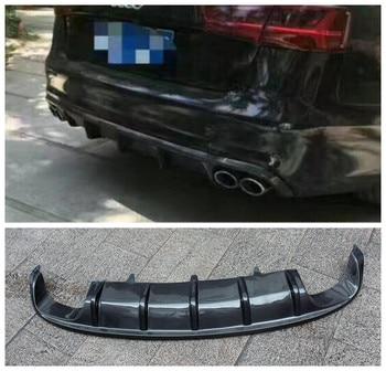 Carbon Fiber Car Rear Trunk Lip Bumper Diffuser Protector Cover Fits For AUDI AUDI A6 A6L C7 S6 S-LINE 2012 2013 2014 2015 2016