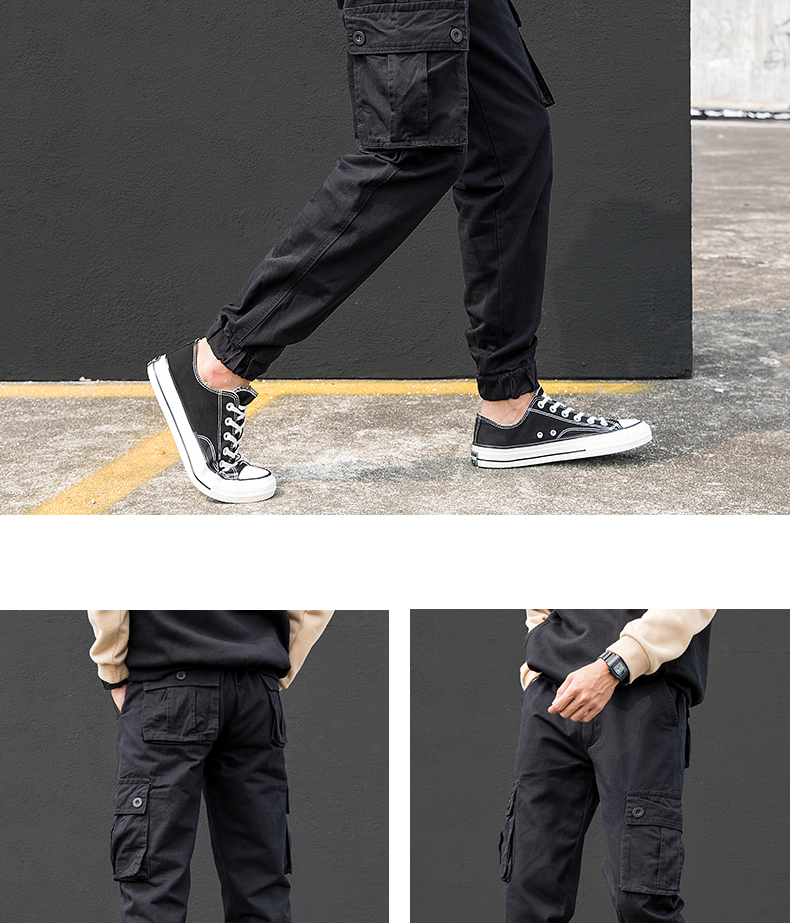 KSTUN Cargo Pants Men Summer Thin Male Overalls Loose fit Trousers casual pants joggers men's clothing brand soft 100% cotton 23