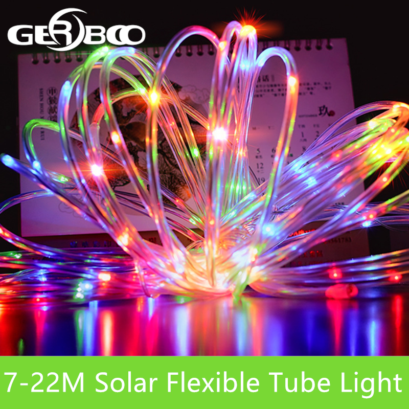 Rope Tube LED Solar Lamp 100/200 LED String Lights Outdoor Fairy Holiday Christmas Party Solar Garden Light Waterproof Luz Solar