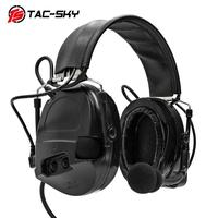 outdoor sports TAC-SKY COMTAC I silicone earmuffs outdoor hunting sports noise reduction pickups military tactical headphones BK+U94PTT (2)