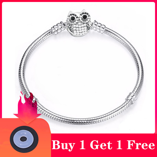 CHIELOYS High Quality Authentic Silver Color Snake Chain Fine Bracelet 3