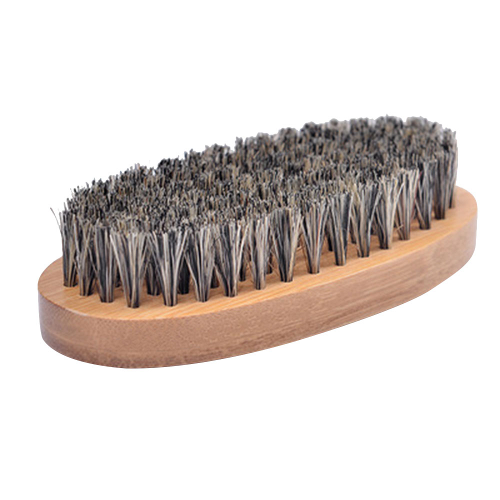 Men Beard Brush Boar Hair Bristle Hard Shaving Comb Wood Handle Face Massage Hairdresser Mustache Brush Shaving Beauty Tool