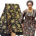 Африканская кружевная ткань Bestway с блестками ручной работы, 5 ярдов, высококачественная ткань из органзы с вышивкой, кружевной материал, ниг...