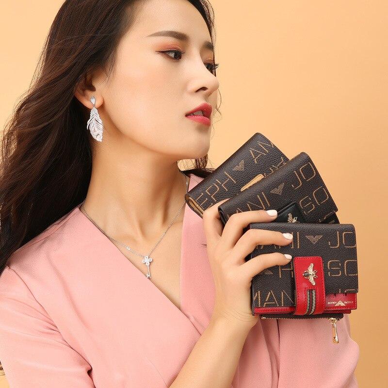Купить с кэшбэком high quality women portfel High-end JOSEPHAMANI Brand wallet new fashion ladies carteira Beautiful little bee bag