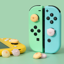 GeekShare 4Pcs Silicone Pig Chicken Joy Con Thumb Grip Set Joystick Caps Switch and Switch Lite Cover Analog Thumb Stick Grips