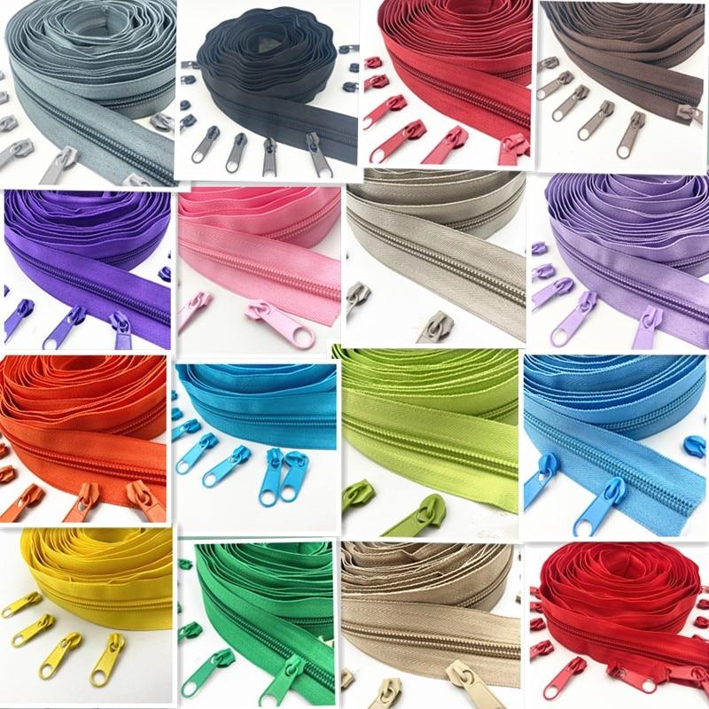 5 метров в длину 10 молний 5 # нейлоновая катушка молния для DIY аксессуары для пошива одежды 20 цветов