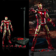 1/9 Scale King Arts DFS009 Iron Man MK43 Solider Figure Diecast Collectible Toy 1 9 diecast figure series dfs023 iron man mark1 collectible dolls figures collections