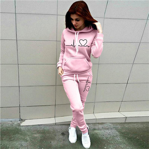Women Tracksuit Pullovers Hoodies and Black Pants Autumn Winter Suit Female Solid Color Casual Full Length Trousers Outfits 2021 24