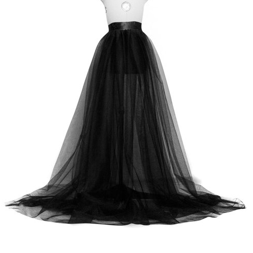 US Temperament Women A-line Tulle Tutu Long Skirt Wedding Party Prom Bandage Mesh Maxi Skirts
