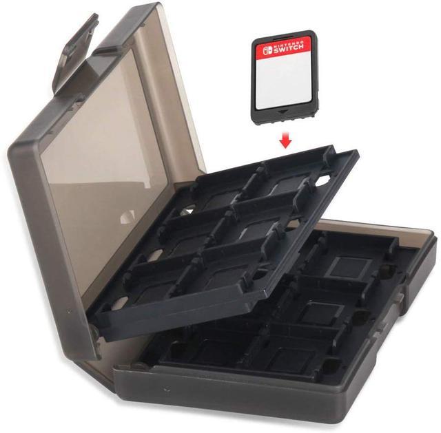 Boîtier de rangement de cartes de jeu Portable 24 en 1 avec interrupteur et 2 capuchons analogiques pour boîtier de rangement de cartes de jeu Switch