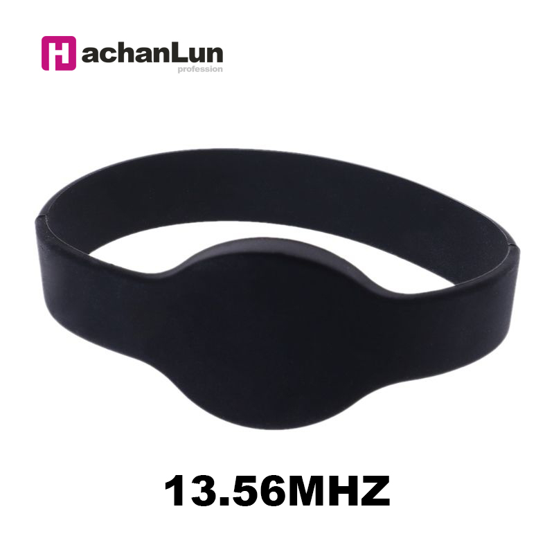 50PCS 13.56MHz S50 IC RFID Read-only Wristband RFID Key Token Many Color Selection Bracelet Keychain Label Access Control