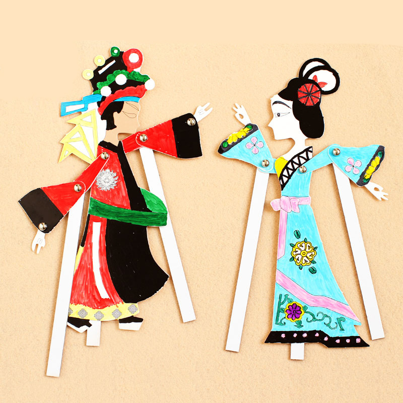 Shadow Play Doll DIY Kids Craft Toys Handmade Materials Creative Chinese Traditional Handicrafts Kindergarten Educational Toy