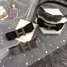 New Full Rhinestone Letter H Fabric Spring Clips Headbands C