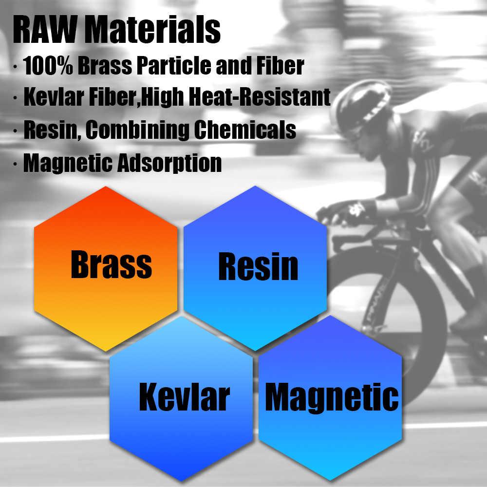 BB5 MTB 산악 자전거 자전거 도자기 MERIDA GIANT AVID PROMAX Caliper 용 황동 세미 메탈릭 브레이크 패드