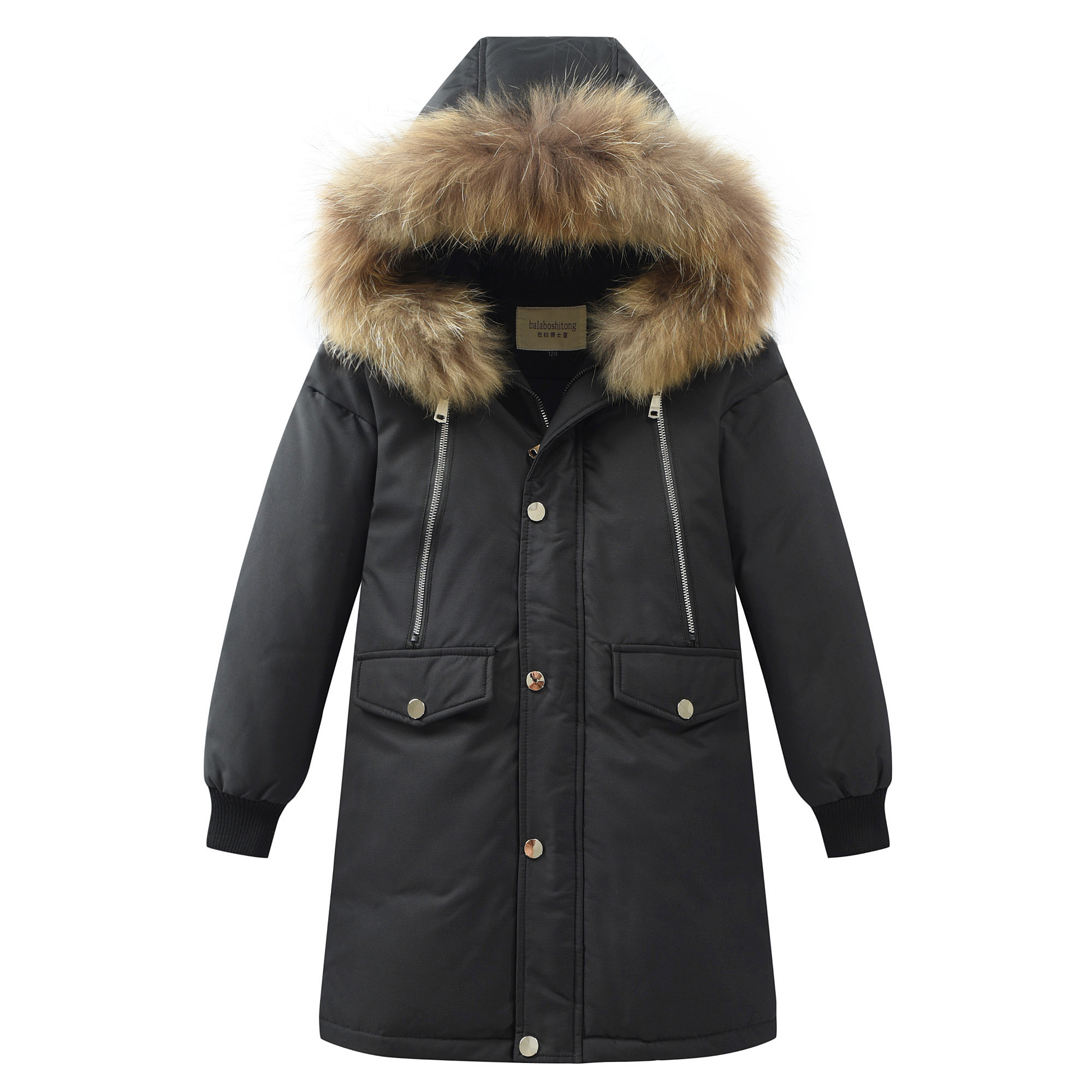 2019 nouveaux enfants veste d'hiver 90% duvet de canard épaissir chaud vêtements d'extérieur pour enfant manteau pour les garçons adolescents 5-16 Y Parkas-30 degrés russie