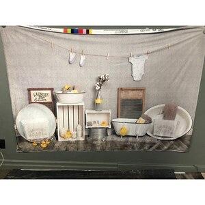 Image 5 - خلفية لغرف الحلاقة للأطفال ، عيد الميلاد الأول ، استحمام الطفل ، صورة كعكة تحطيم التصوير ، خلفية البط ، الأرض الخشبية ، استوديو الصور