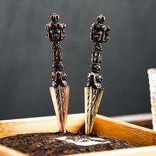 Faca de chá de aço inoxidável artesanal acessórios cortador agulha chinês puer faca chá espessamento te verde chino teaware df50tnc