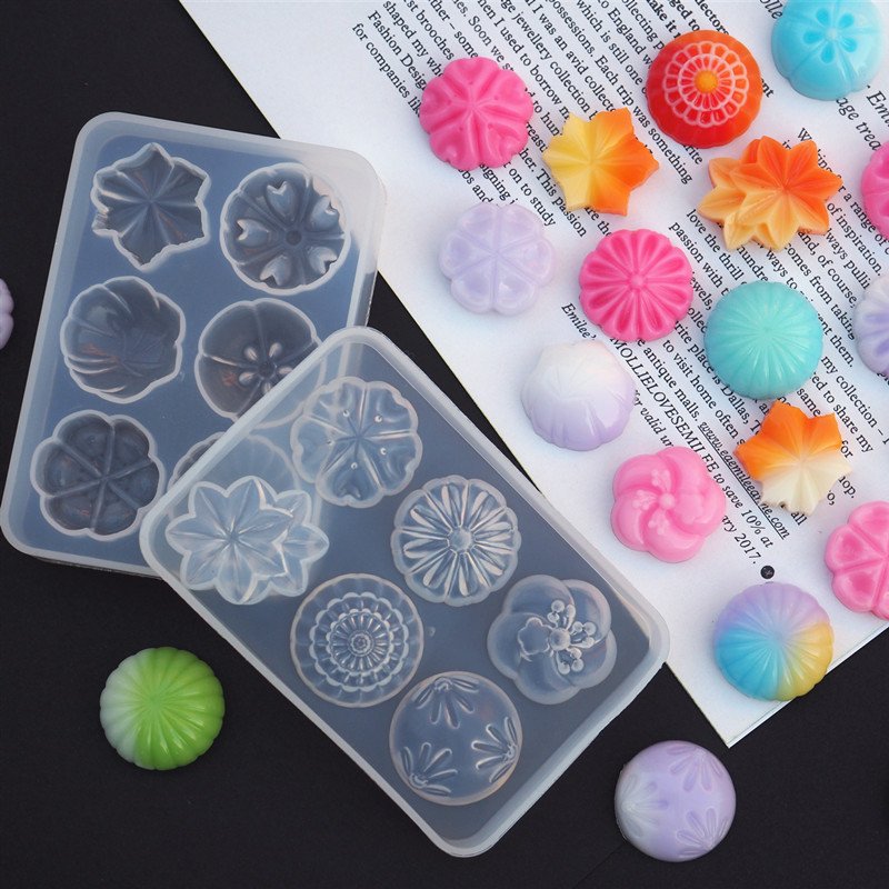 UV Crystal Epoxy Resin Mold Fruit Candy Pastry Silicone Mold Handmade Jewelry Making Mold