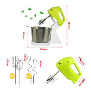 New Electric Kitchen Food Mixer Table &Stand Cake Dough Mixer Handheld Egg Beater Blender Baking Whipping Cream Machine 7 Speed