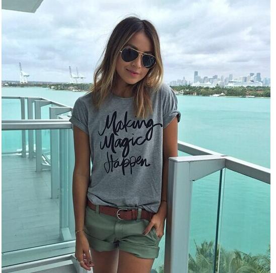 Spring and summer fashion new hot style letter short sleeve T - shirt 1