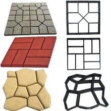 Reusable DIY Manually Paving Garden Walk Pavement Mold DIY Manually Paving Cement Brick Stone Road Concrete Molds Path Maker