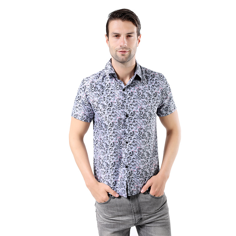 2019 Summer New Style Europe And America Men Casual Fashion & Sports Camouflage Printing Short-sleeved T-shirt Men's