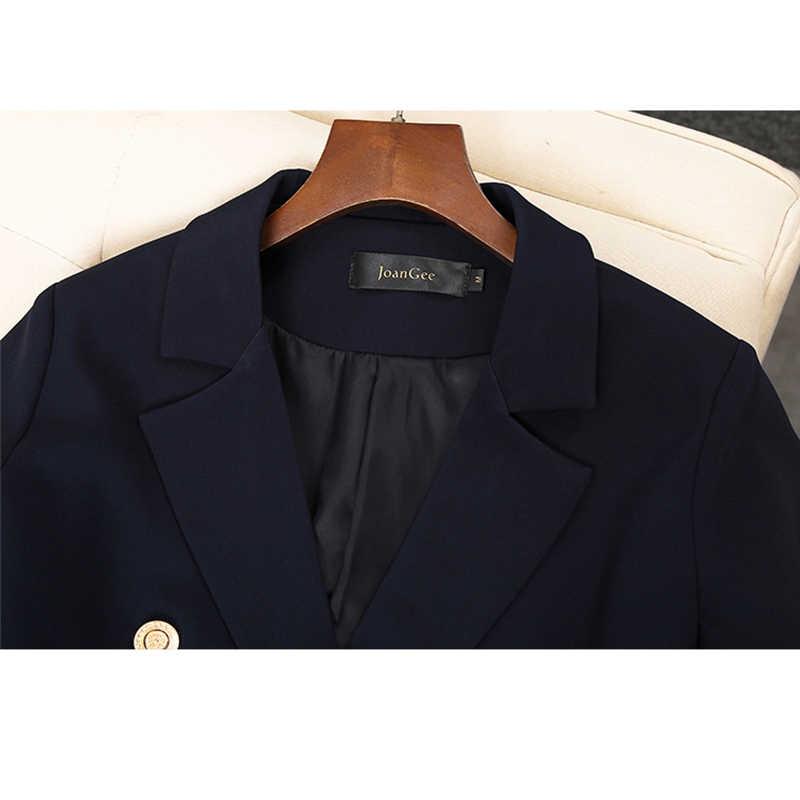 2020 Vrouwen Double Breasted Lange Blazers Office Lady Klein Jasje Dames Leisure Blazer Losse Jas Streetwear Plus Size 5XL