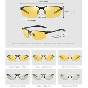 Image 5 - فوتوكروميك النظارات الشمسية الرجال الاستقطاب UV400 مكبرة رجل نظارات شمسية القيادة خمر حملق gafas دي سول 2020 مع صندوق Sunglasses Men Polarized