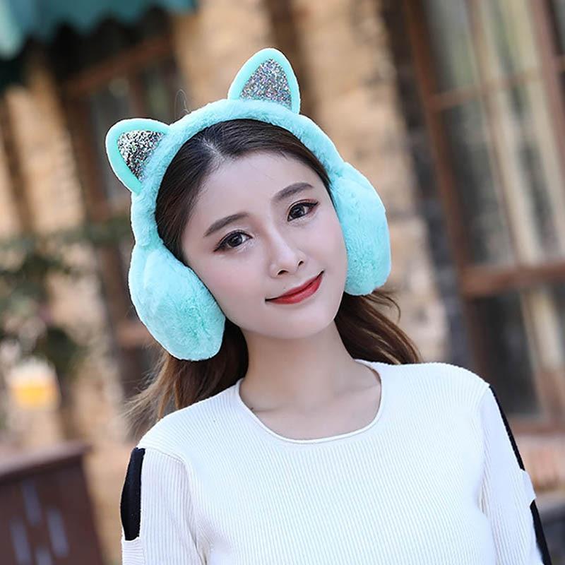 Calymel Hot Sale Fashion Winter Ladies Earmuffs Unisex Skiing Fur Headphones Outdoor Ear Warmer Earmuff Cute Earmuffs Gifts