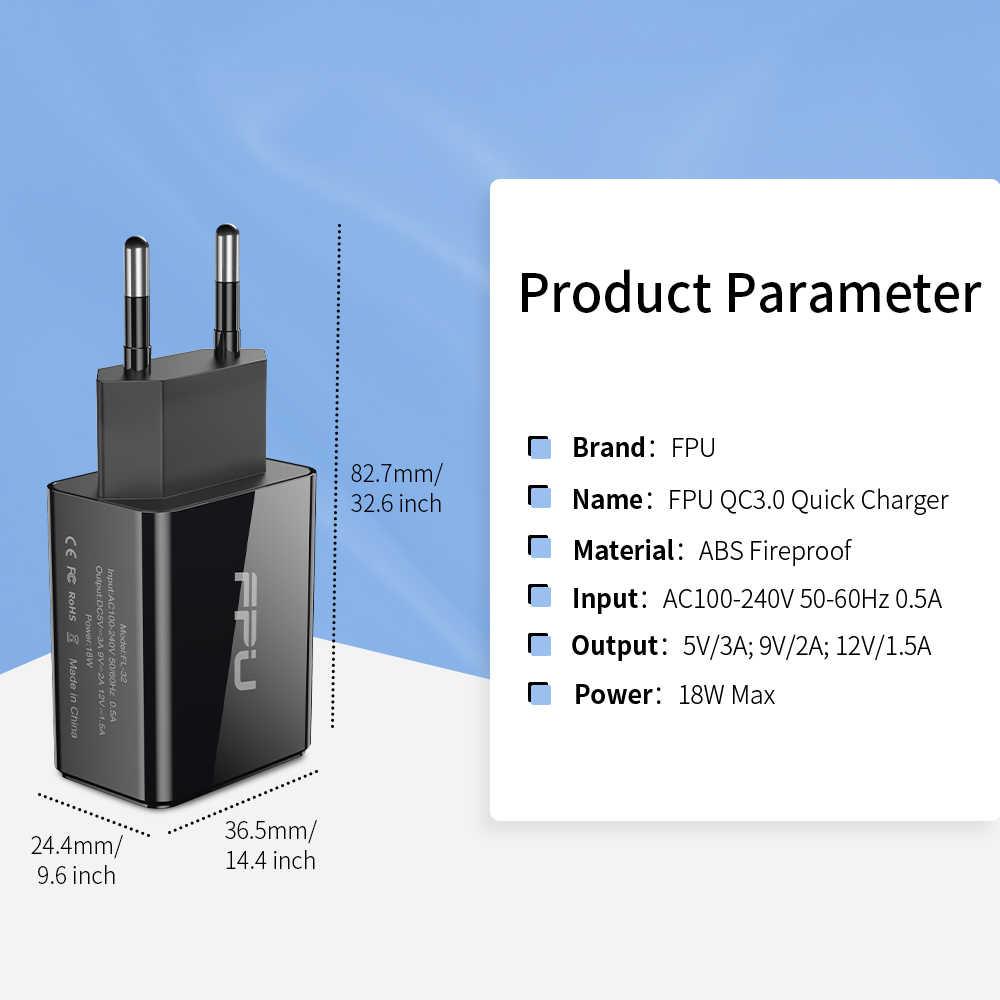 FPU شحن سريع 3.0 USB شاحن آيفون باد QC3.0 QC شاحن سريع الاتحاد الأوروبي محول لسامسونج S10 شاومي Mi شاحن الهاتف المحمول