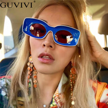 Vintage Rectangle Sunglasses Women Men Trendy Brand Sun Glas