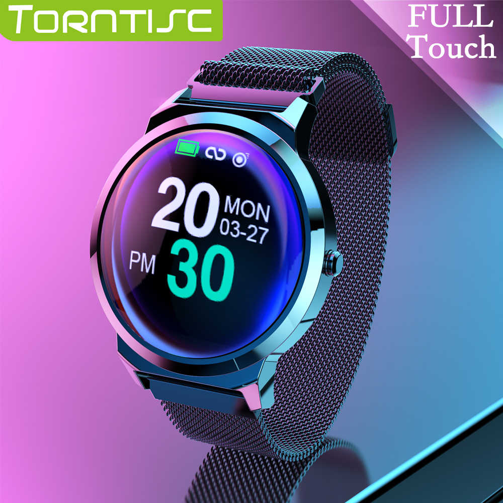 Torntisc Full Touch 1.3 Inch IPS Screen Smart Watch For Android IOS Phone SMS Push Heart Rate Blood Pressure Smartwatch men