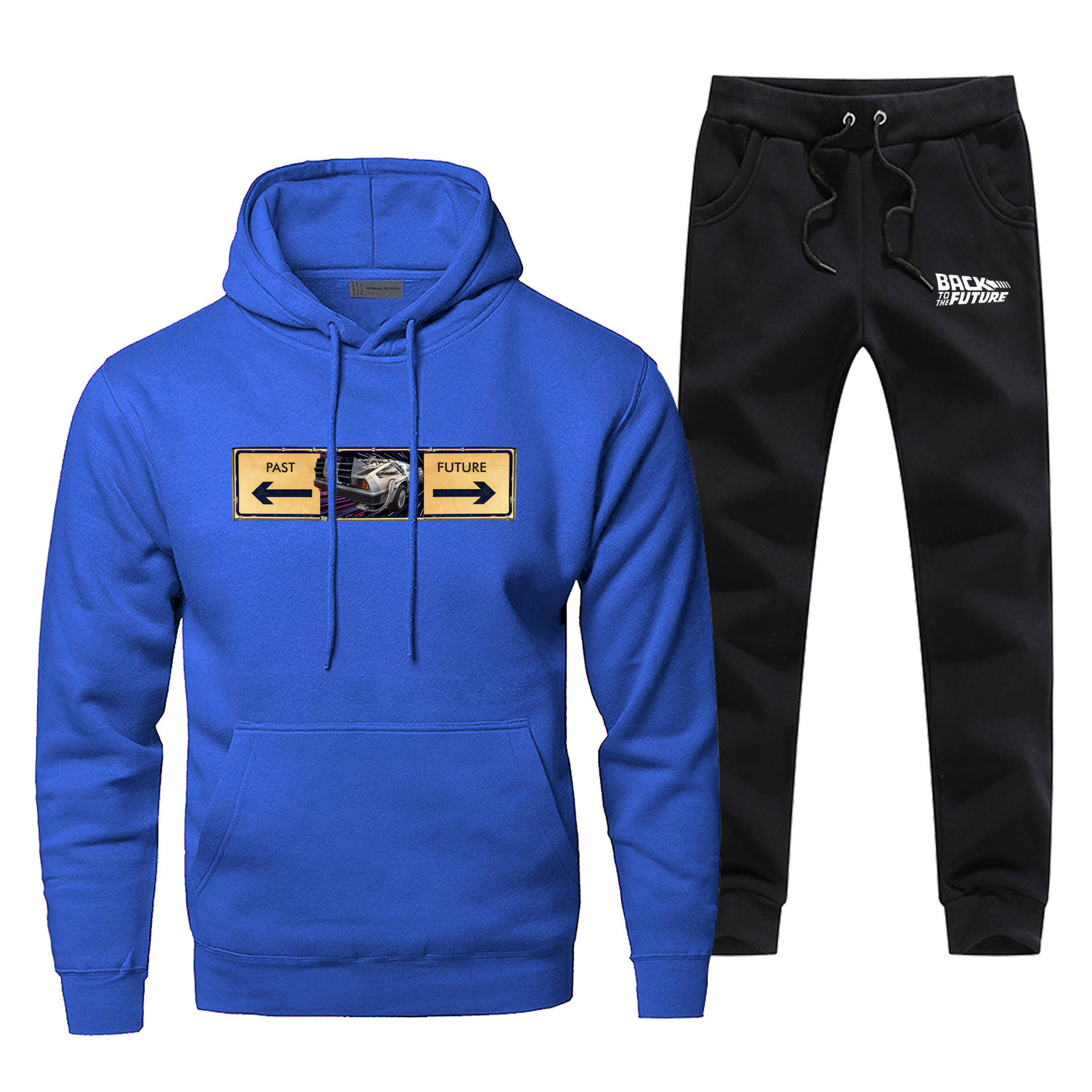 2049 New Men's Sets Back To The Future Complete Man Tracksuit Fashion Casual Pants Sweatshirt Fleece Bodywarmer Sportsman Wear