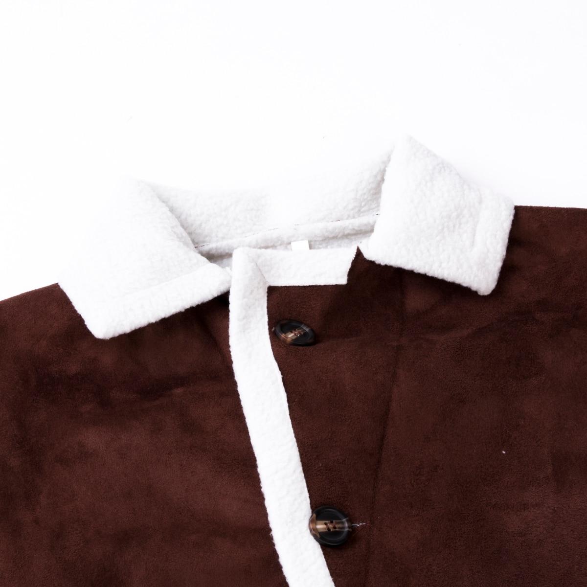 H655da6fcc6f940eebb50b5dd70a9da64J Men's Winter Warm Trench Windproof Fur Fleece Long Coat Overcoat Lapel Warm Fluffy Jacket Buttons Outerwear Plus Size Coat