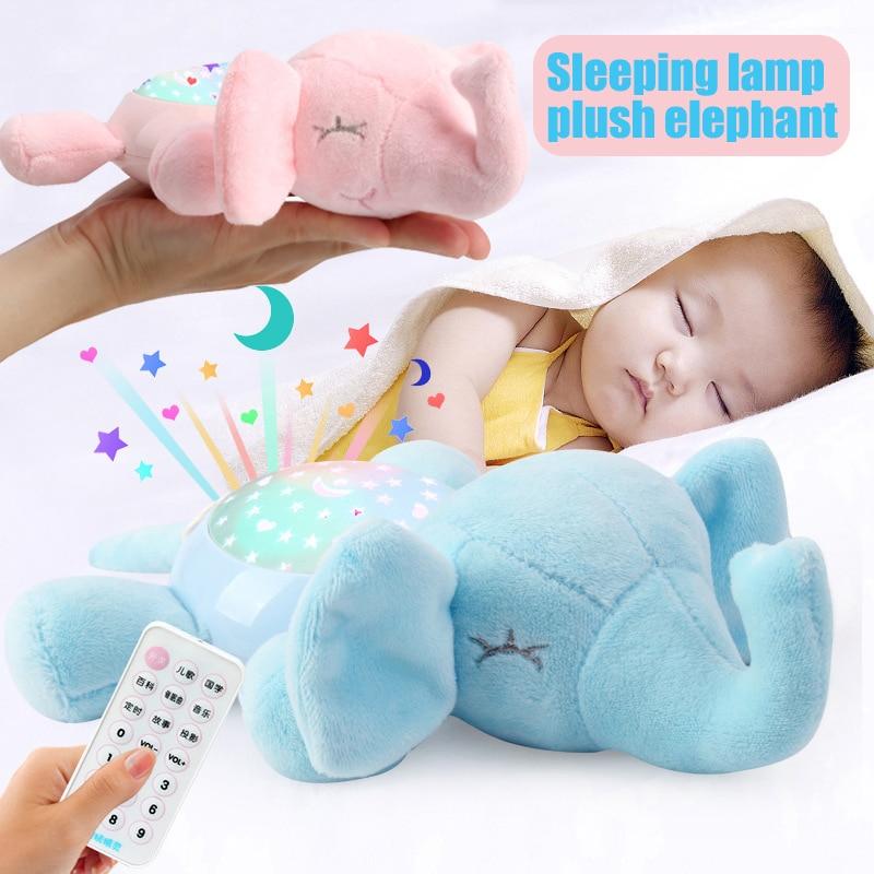 Multifunctional Stuffed Plush Toy Light Music Storytelling Projection Sleeping Lamp For Kid 2020 New Design Kids Toys Gift