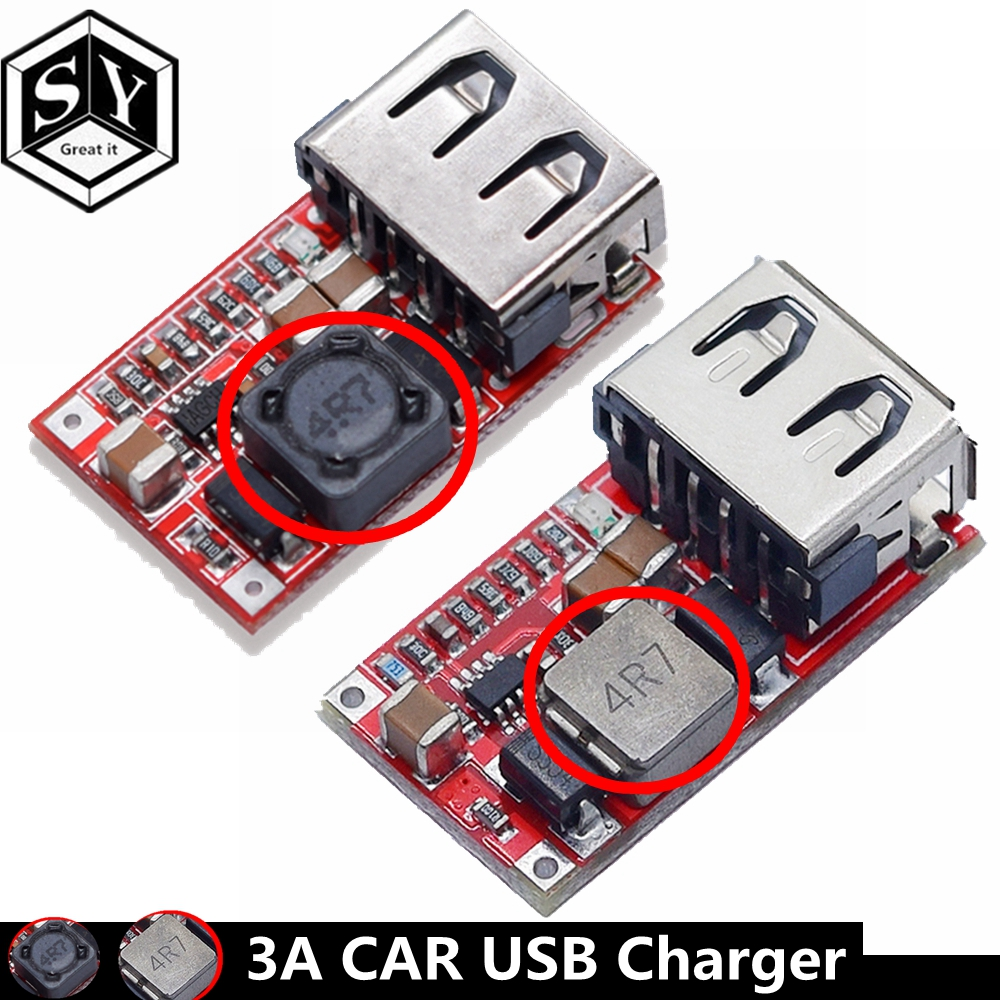 1PCS Great IT Fine 6-24V 12V/24V To 5V 3A CAR USB Charger Module DC Buck Step Down Converter 12v 5v Power Supply Module