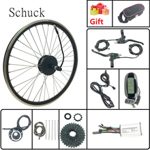 Schuck fiets bekrachtigde modificatie kit 48V350W achterwiel hub motor withLCD6 Display 16-28 inch 700C 8 tand vliegwiel(China)
