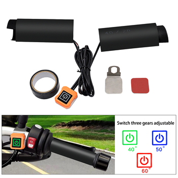 Motorcycle Accessories Electric Heating Hand bar Heated Grip Non-slip Handle Cover Grips