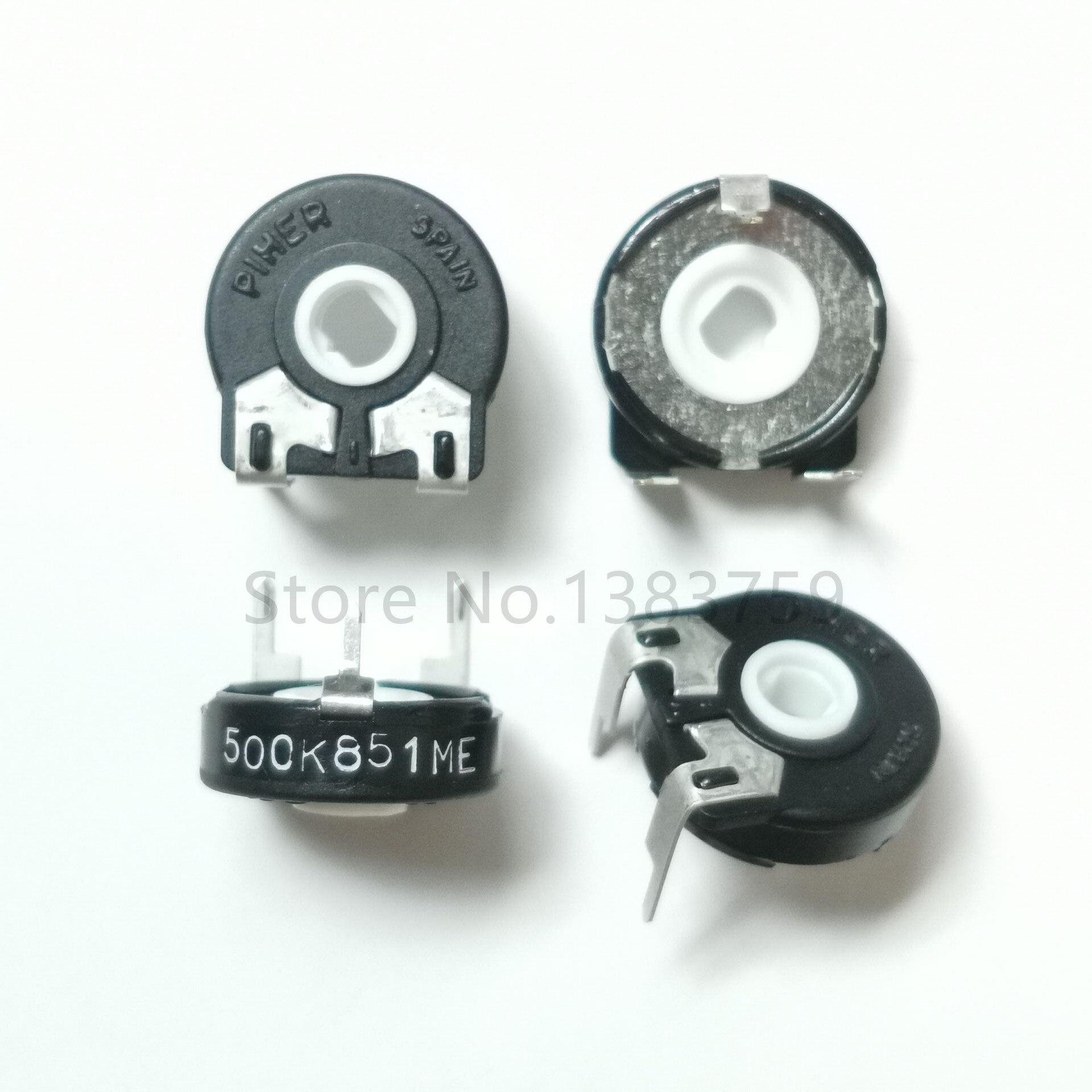 5pcs Variable Resistor PT15-500K 504 Horizontal Elliptical Hole Adjustable Potentiometer