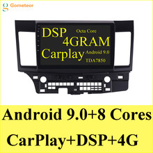 Android 9,0 reproductor de dvd del coche para MITSUBISHI LANCER wifi Carplay 4 gramos Cámara inversa Radio Bluetooth Audio DSP Radio Gps(China)