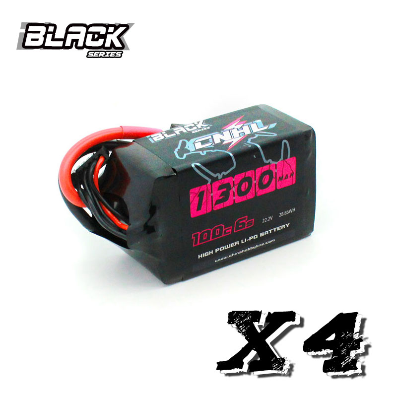 Novo cnhl preto série 1300mah 22.2v 6s 100c lipo bateria para vórtice lrc freestyle v1 rc barco heli avião uav zangão fpv|Peças e Acessórios|   -