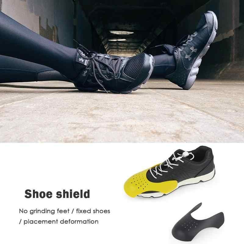 1 çift Anti Kırışıklık Buruşuk Kat Ayakkabı Desteği Sedye Ayakkabı Kalkanları çıkarmak astarı çantasına ayakkabı kalkan Sarı