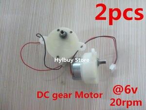 2 uds Micro DC motorreductor 3V-6V 5V caja de cambios bajo engranaje Motor de velocidad lenta 18rpm