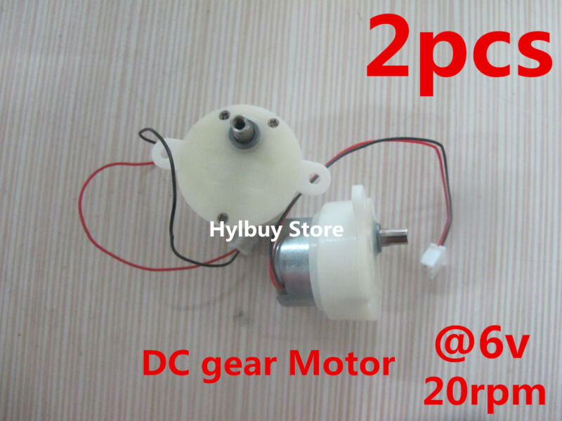 2pcs Micro DC Geared Motor 3V-6V 5V Gearbox Low Gear Motor Slow Speed 18rpm