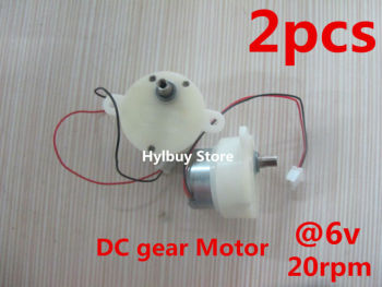 цена на 2pcs Micro DC Geared Motor 3V-6V 5V Gearbox Low Gear Motor Slow Speed 18rpm