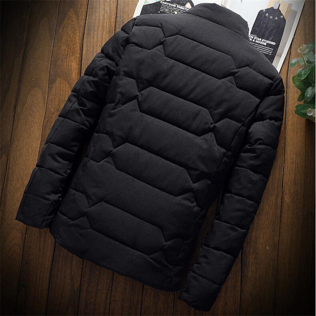 Autumn Winter Jacket Men Thicken Warm Cotton-padded Mens Jackets Slim Fit Stand Collar Youth Winter Jackets and Coats For Men 5