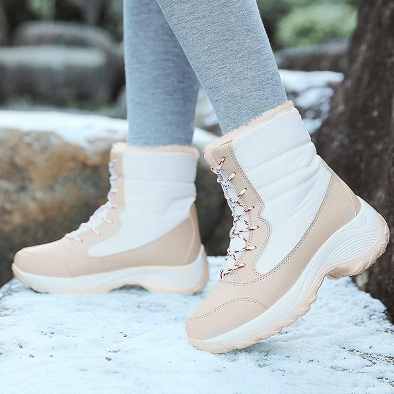 Женские ботинки, удобные новые ботинки в стиле ретро, женские теплые ботинки на платформе, женская зимняя обувь на толстой подошве|Зимние сапоги| | АлиЭкспресс