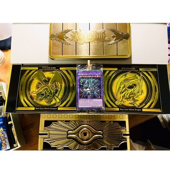 2020 MP19 MP20 King Gold Sarcophagus Tin Duel Monsters YU GI OH Game Collection Carte Trading Flash Cards Game With Original Box 2