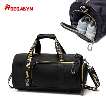 ROEGADYN Outdoor Sports Bags For Women Fitness Waterproof Sports Bags Dry Wet Separated Small Gym Bag Shoes Compartment Handbag 1